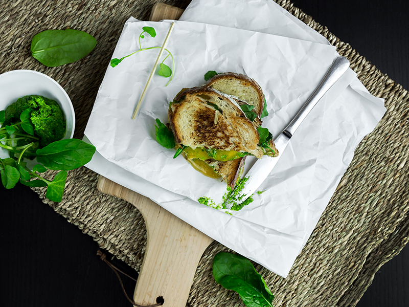 Gouda Pesto Sandwich Recipe