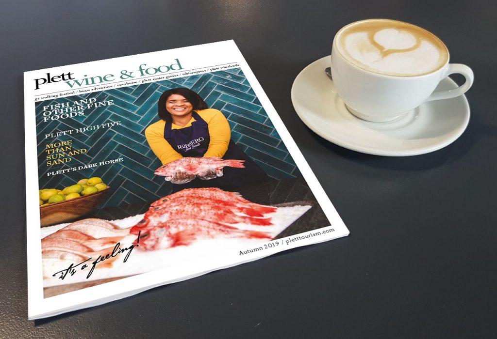 Plett wine and food magazine featuring Robberg Fine Foods