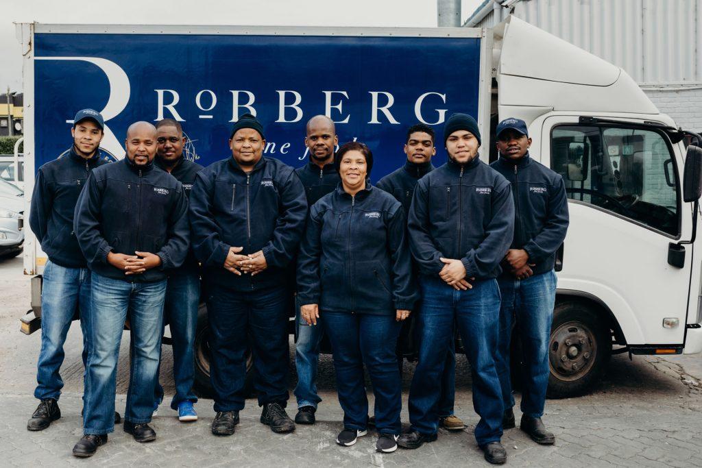 Receiving and Dispatch Team from left to right: Jaydee Mey, Jafta Sam, Hershall Grootboom, Aubrey Mabie, Kenneth Mbotoloshi, Rene Arnolds, Eldridge Breda, Jacques McClean, Jonathan Mbaleki