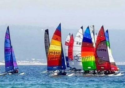 Robberg Fine Foods Classic Beach Regatta boats at start 2