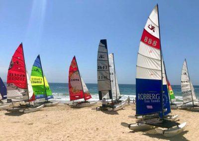 Robberg Fine Foods Classic Beach Regatta boats on beach 2