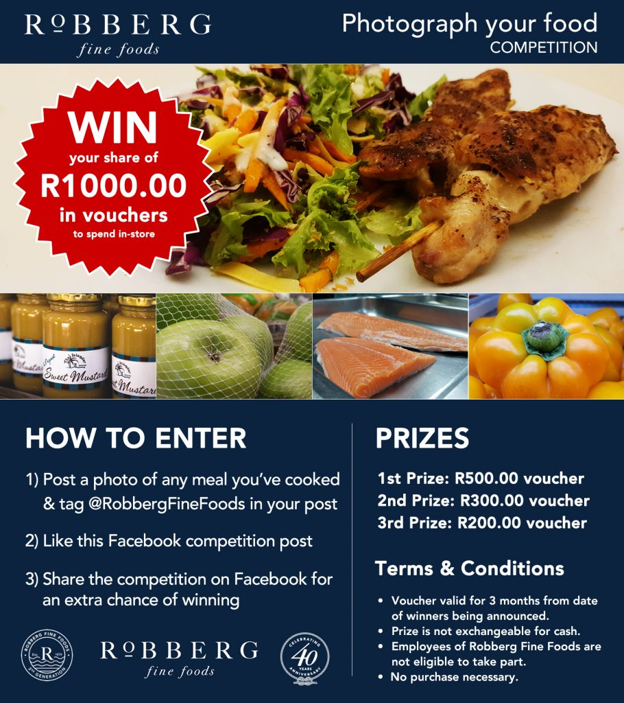 Win R1000 in vouchers - photograph your food