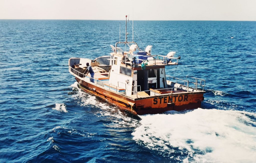 Stentor was one of the first fishing boats owned by Robberg Seafoods in the early 1980s.