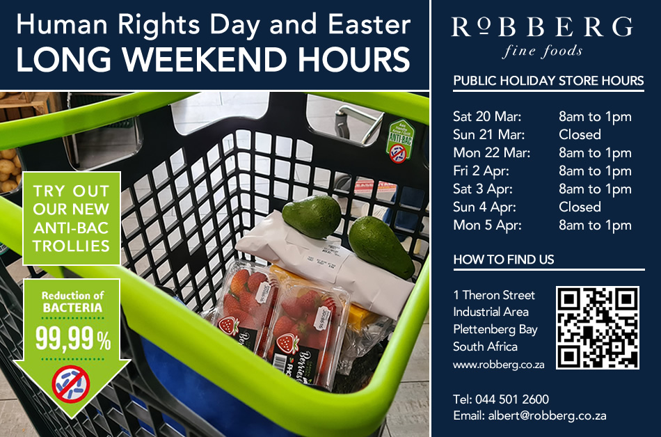 Our open hours during Easter holidays