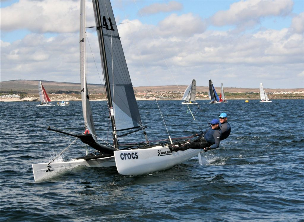 Blaine Dodds and Andrew Ward at the Hobie 18 Nationals 1
