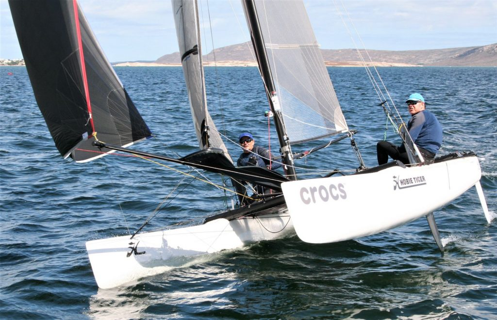 Blaine Dodds and Andrew Ward at the Hobie 18 Nationals