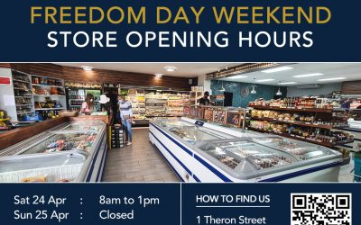 Our open hours over the Freedom Day weekend